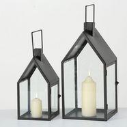 boltze lantaarn »nuovo« (set, 2 stueck) zwart