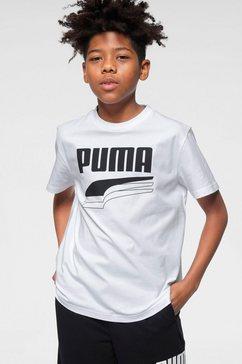 puma t-shirt »rebel bold tee boys« wit