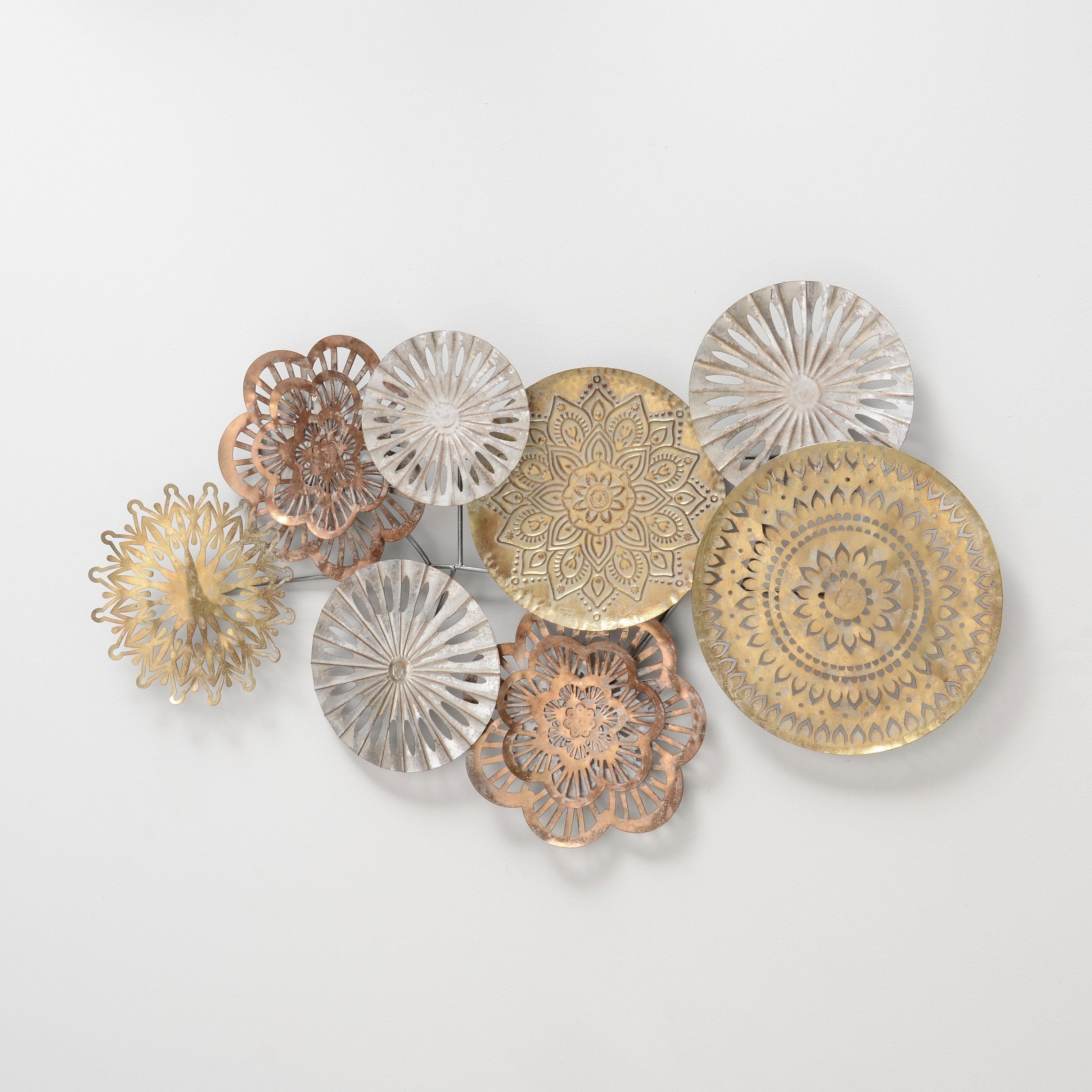 Home affaire sierobject voor aan de wand Cavallo Wanddecoratie, wanddecoratie, van metaal, bestaand uit 8 elementen voordelig en veilig online kopen