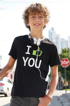 arizona t-shirt »spruecheshirt« zwart