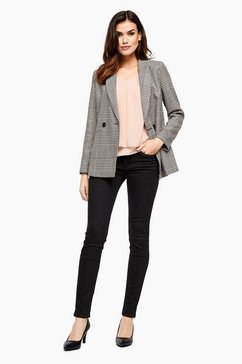 s.oliver black label sally straight: cropped jeans blauw