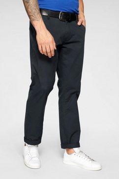 john devin chino-broek met schuine steekzakken zwart