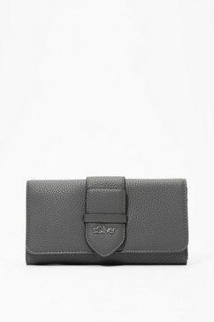 s.oliver portemonnee met klep en logoplaatje grijs