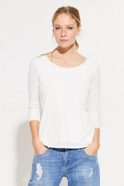 comma shirt met 3-4 mouwen wit