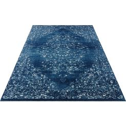 nouristan vloerkleed »pandeh«, nouristan, rechthoekig, hoogte 10 mm, machinaal geweven blauw