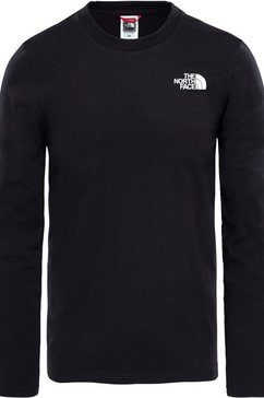 the north face shirt met lange mouwen »easy tee« zwart