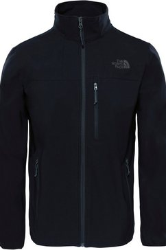 the north face softshell-jack »nmible« zwart