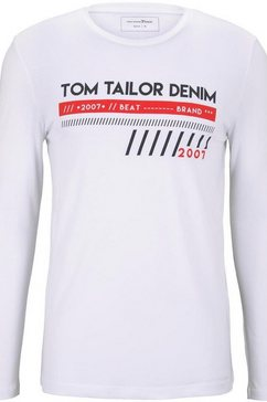 tom tailor denim shirt met lange mouwen wit