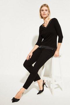 comma shirt met 3-4 mouwen zwart