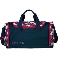 neoxx sporttas champ, my heart blooms van gerecyclede petflessen blauw