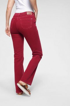 pepe jeans wijd uitlopende jeans »erina archive« rood