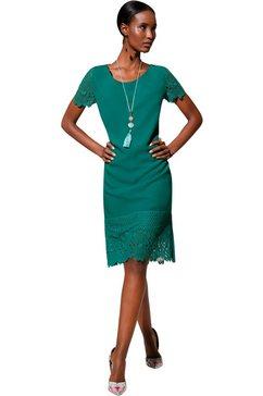 creation l jurk in hoogwaardige linnen-lyocellkwaliteit groen