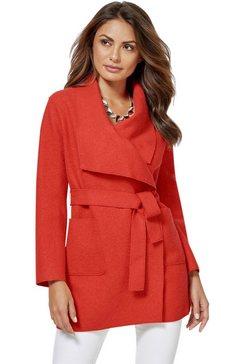 creation l lange blazer in moderne, open variant rood