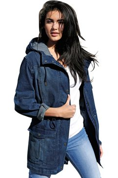 ambria jas in modieus lang model blauw