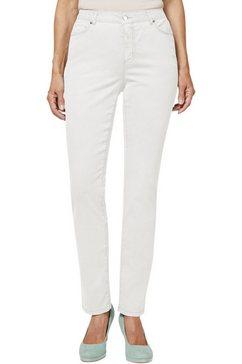 creation l jeans in katoen-stretchmengsel wit