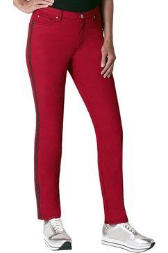 ambria jeans met glanzende siernaden rood