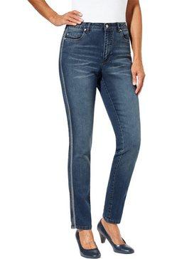 classic inspirationen jeans met afkledende galons blauw