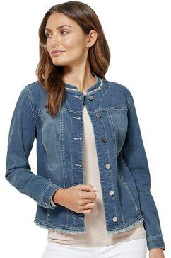 creation l blazer in jeanskwaliteit blauw