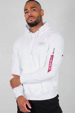 alpha industries hoodie »back print hoody« wit
