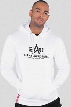 alpha industries capuchonsweatshirt »basic hoody« wit