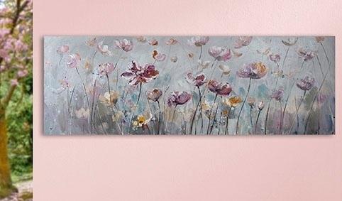 GILDE artprint op linnen Bloemenwijde met de hand beschilderd, woonkamer (1 stuk) in de webshop van OTTO kopen