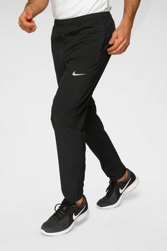 nike runningbroek »m nk run stripe woven pant« zwart