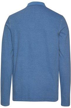 marc o'polo poloshirt met lange mouwen blauw