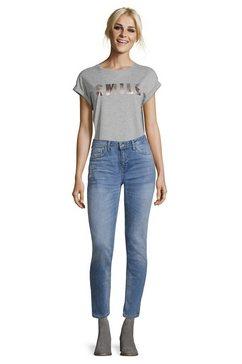 cartoon regular fit broek met bloemenprint »im jeans-look« blauw