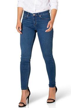 dnim by yest slim fit jeans joy smal geknipt, slim fit blauw