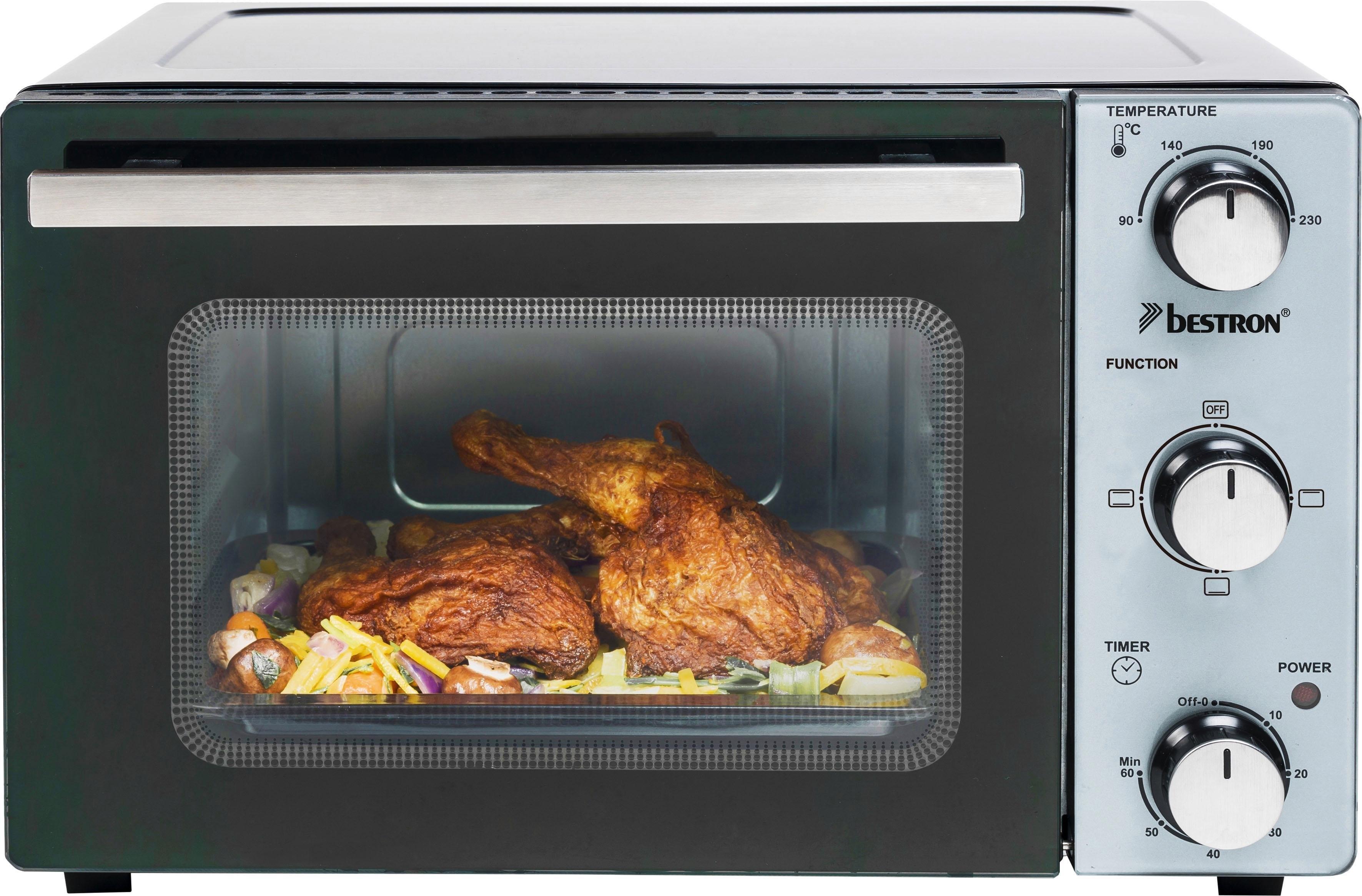 bestron mini-oven Compact apparaat 1300 w, roestvrij staal, zwart goedkoop op otto.nl kopen