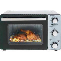 bestron mini-oven compact apparaat zwart