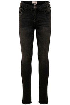 kids only skinny fit jeans »konblush skinny raw« zwart