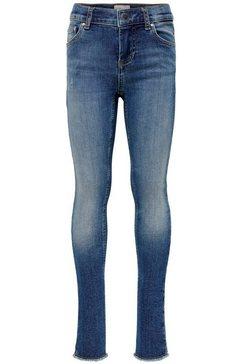 kids only skinny fit jeans »konblush skinny raw« blauw