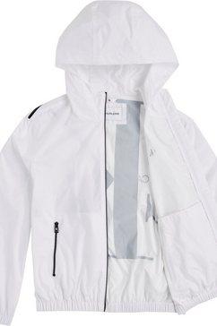 calvin klein blouson »large ck logo hooded zip through« wit
