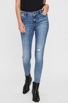 vero moda skinny fit jeans »vmlydia« blauw