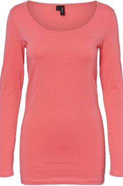 vero moda shirt met lange mouwen »maxi« roze