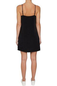 calvin klein jurk in overgooiermodel »monogram slip dress« zwart