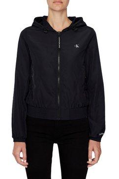 calvin klein blousonjack »hooded zip through with seaming« zwart
