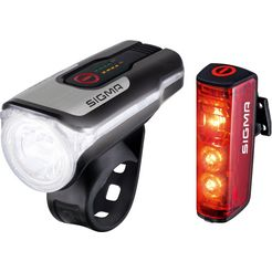 sigma sport fietsverlichting aura 80 usb - blaze complete set (set, 3) zwart