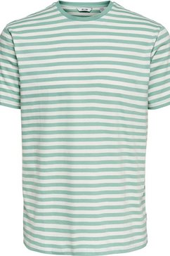only  sons t-shirt »onsjamie stripe reg tee« wit