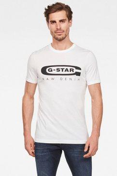 g-star raw shirt met ronde hals »graphic 4« wit