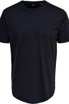 only  sons shirt met ronde hals »onsmatt longy tee« blauw