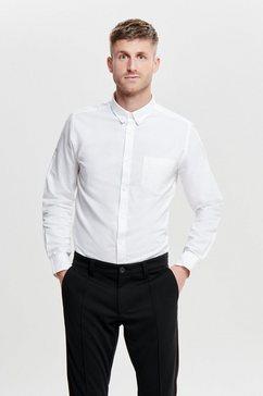 only  sons overhemd met lange mouwen varo ls oxford shirt wit