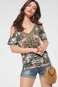 melrose shirt met v-hals groen