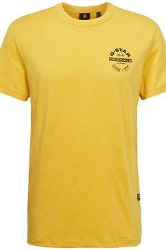 g-star raw t-shirt »originals logo« geel