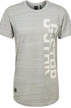 g-star raw t-shirt »lash« grijs
