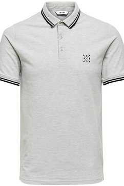 only  sons poloshirt »stan fitted polo tee« grijs