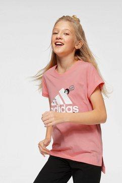 adidas performance t-shirt roze