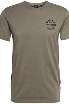g-star raw t-shirt »originals logo« groen