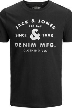 jack  jones t-shirt »jjejeans print tee« zwart